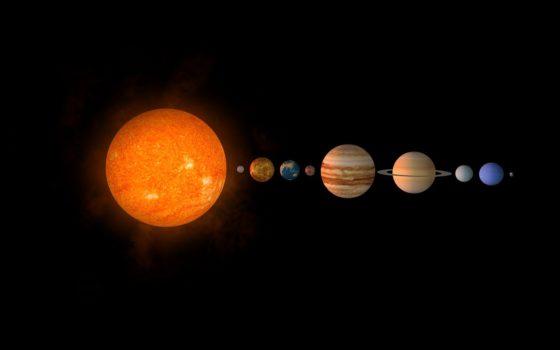 Система вращения планет вокруг Солнца