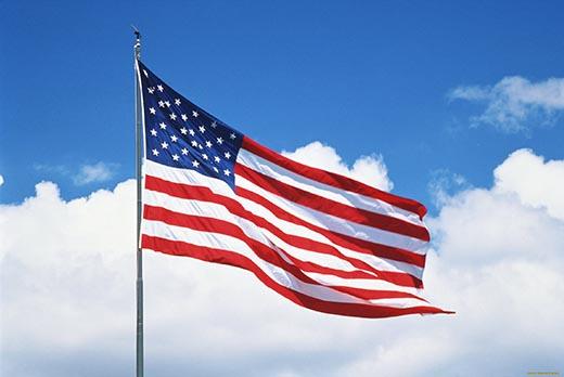 Изображение государственного флага США. Почему на флаге США 50 звезд