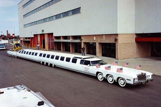 Самый длинный автомобиль в мире. Его размеры и длина.