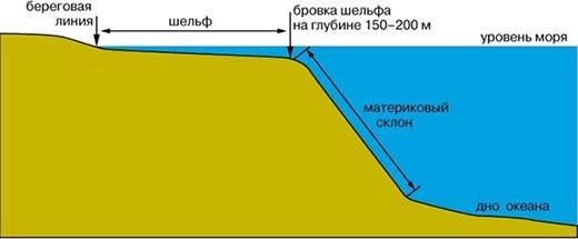 Что такое материковый склон?