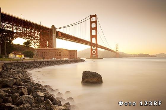Где находится мост Золотые Ворота?