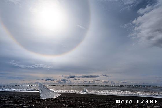Что такое гало вокруг Солнца или Луны?
