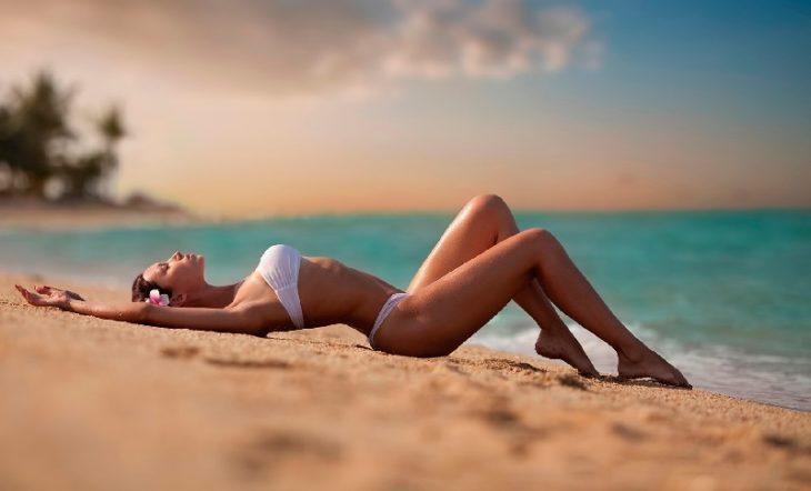 красотки на пляже